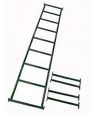 MONKEY BARS WITH 4 RUNGS - GREEN Climbing Cubby House Playground Equipment