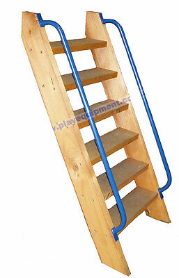 LADDER KIT 1.2m PLATFORM + HANDLES Cubby House Fort Stair Kit Climbing Stairs
