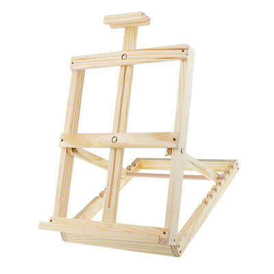 Adjustable Folding Wood Artist Tabletop Easel Painting Drawing Stand Holder