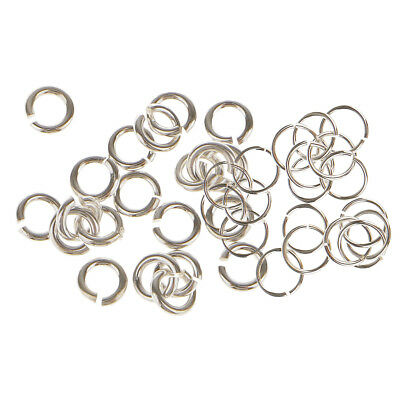 40Pc 925 Sterling Silver 3mm 6mm Split Ring Jump Rings (Link Jewlery Charms)