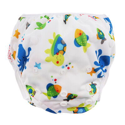 Baby Adjustable Snap Swim Diapers Toddlers Reusable Waterproof Swimming Shorts
