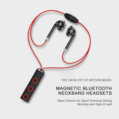 Magnet Wireless Bluetooth Sports Earphone Stereo Headset for iPhone Samsung LG