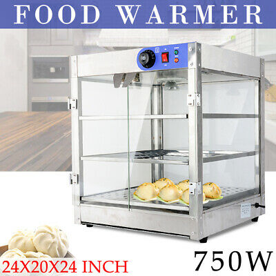 Commercial Food Pizza Pie Pastry Soup Warmer Hot Display Showcase Cabinet