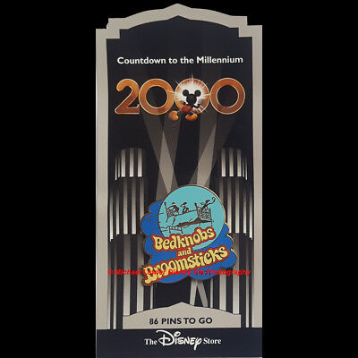 Disney Store Countdown To The Millennium Pin #87 Bedknobs And Broomsticks