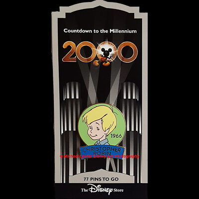 Disney Store Countdown To The Millennium Pin #78 Christopher Robin Pin Pooh