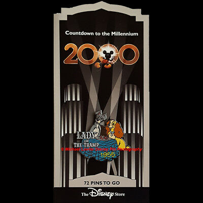 Disney Store Countdown To The Millennium Pin #73 Lady & The Tramp Pin
