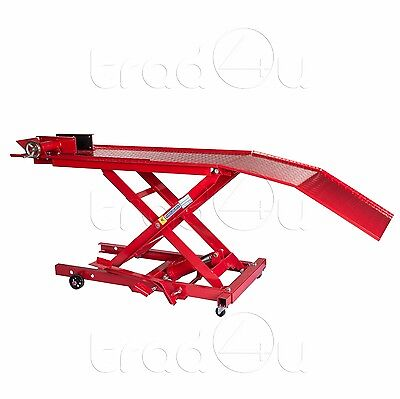 800 lbs Hydraulic Motorbike Motorcycle Bike Lift Ramp Service Shop Table Bench