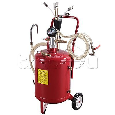 6 Gallon Portable Pneumatic Oil Extractor Tank Vacuum Drain Drainage Suck Air