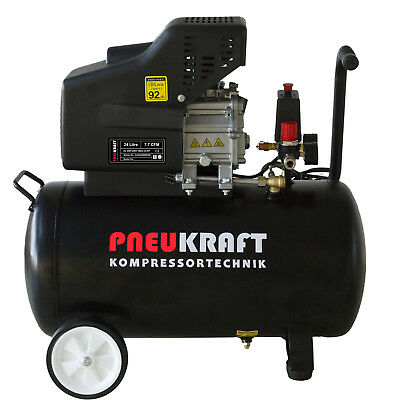 Portable 24L Air compressor - 2.0HP 115PSI 8 BAR CE Certified Option Spray Kit