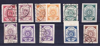 Latvia 1919 Issues Imperf