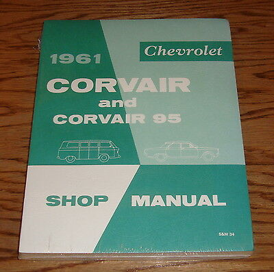 1961 Chevrolet Corvair & Corvair 95 Shop Service Manual 61 Chevy