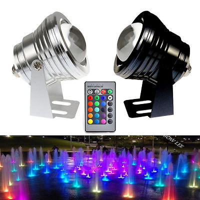 Underwater Spot Light 12V 5W 10W Waterproof RGB LED Light White Flood Wash Lamp