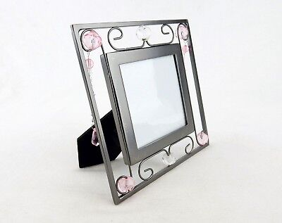 Picture Frame, Metal, Wire & Beads, 3x3 Photo Window, Cassiani Collection #7524
