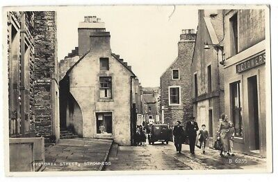 STROMNESS Victoria Street, Orkney, RP Postcard by Valentine, Postally Used 1961