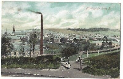 KIRRIEMUIR From South Showing Chimney, Old Postcard by Valentine Postally Used