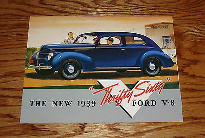 1939 Ford Car V-8 60 Horsepower Sales Brochure 39 Coupe Sedan