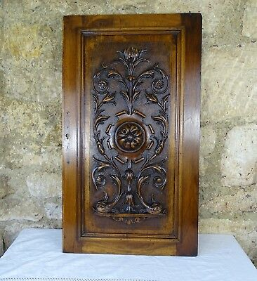Antique Carved Architectural Walnut Door Panel Wood - Renaissance Style Chimera
