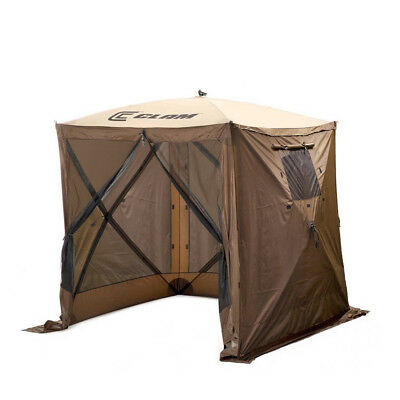 Clam Quick Set Traveler Portable Camping Outdoor Gazebo Canopy + 3 Wind Panels