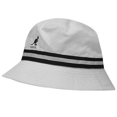 KANGOL PATTERN BUCKET Hat Mens Gents Cotton Stripe Stamp Striped ... 9400e6f29d82