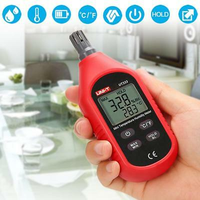 UNIT UT333 LCD Digital Thermometer Hygrometer Humidity Meter Tester Temperature