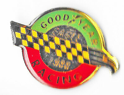 Lapel Hat Pin Tie 1988 Goodyear Eagle Racing Tires Checkered Flag Nascar Speedy
