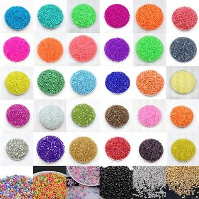 Wholesale Lots 1000pcs 2mm Charm Czech Glass Seed beads Jewelry Making Craft DIY
