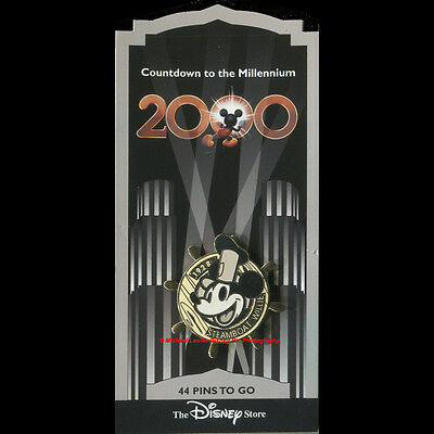 Disney Store Countdown To The Millennium Pin #45 Steamboat Willie Mickey Mouse