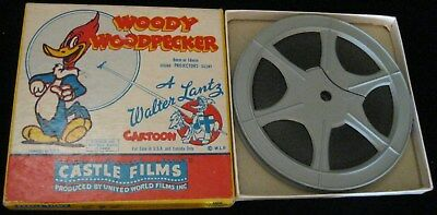Vintage Woody Woodpecker 8Mm Complete Edition Film 496 Hot Shot By Castle Films