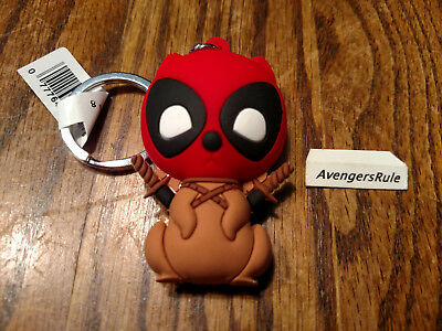 Marvel Collectors Figural Keyring Series 3 Deadpool 3 Inch Squirrelpool