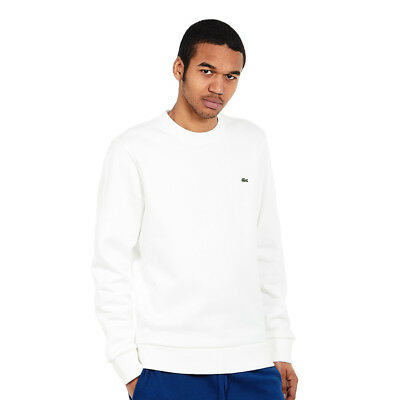 Lacoste - Embroidered Brushed Fleece Sweatshirt Farine Pullover Rundhals