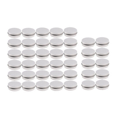 Screw Round Lip Metal Tin Storage Jar Balm Containers&Lid Cosmetic Holder 10/30X