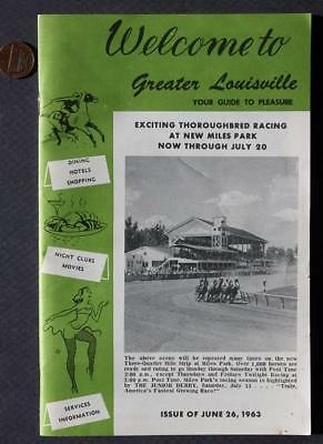 June 26,1963 Louisville,Kentucky guidebook-Jayne Mansfield-RISQUE STRIPPER ADS!