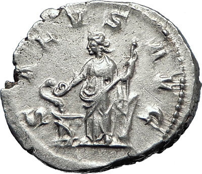 PHILIP I 'the Arab' 247AD Rome Authentic Silver Ancient Coin SALUS  i70066