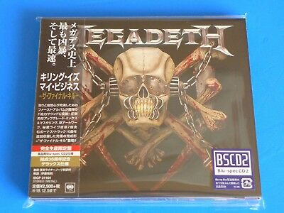 2018 JAPAN MEGADETH KILLING IS MY BUSINESS FINAL KILL BLU SPEC CD w/BONUS TRACK
