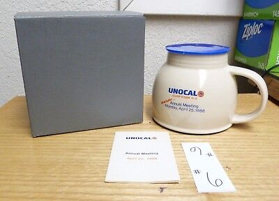 1988 Union 76 Oil Co Unocal Annual Meeting Reminder Gift Mug & Insert Tag -#6