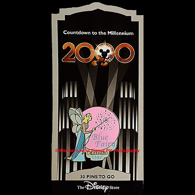 Disney Store Countdown To The Millennium Pin #31 The Blue Fairy From Pinocchio