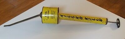 Vintage KILL-KO Insect HAND PUMP SPRAYER w/ CAN 18 inches long