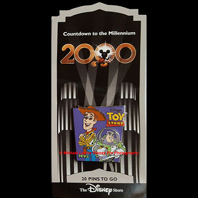 Disney Store Countdown To The Millennium Pin #21 Toy Story Woody Buzz Lightyear