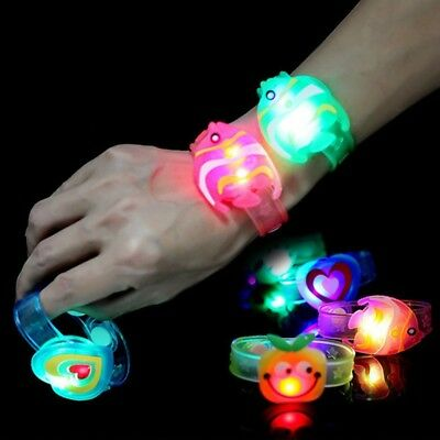 LED Glowing Wristband Bracelet Light Flashing Kids Toy Children Party Supply