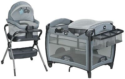 Graco Baby Pack 'n Play Day2Dream Crib Bassinet Playard & Bedside Sleeper Layne