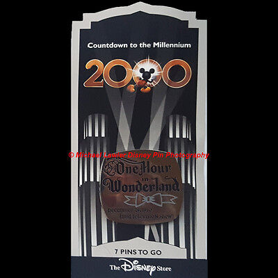 Disney Store Countdown To The Millennium Pin #8 One Hour In Wonderland First Tv