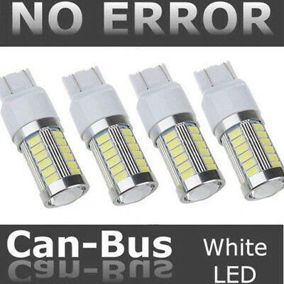 4X T20 7440 7443 33SMD LED Canbus Car Brake Reverse DRL Fog Light White Color
