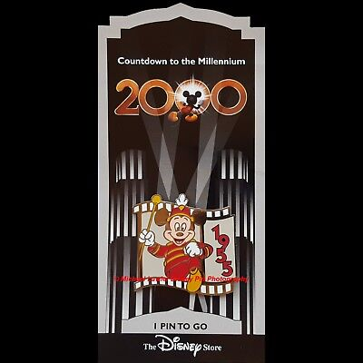 Disney Store Countdown To The Millennium Pin #2 Mickey Mouse Club March Filmstrp