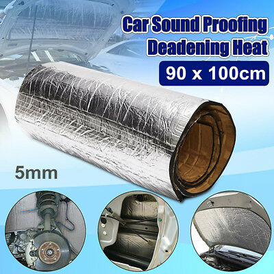 90x100cm Car Sound Proofing Deadener Vehicle Heat Insulation Thermal Foam Mat