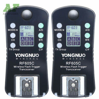 Yongnuo RF-605C Wireless Flash Trigger for Canon RF-603 II RF-602 YN-560 III