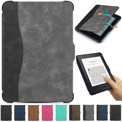 """Fr 6"""" Amazon Kindle Paperwhite 1 2 3 Tablet Smart Magnetic PU Leather Case Cover"""