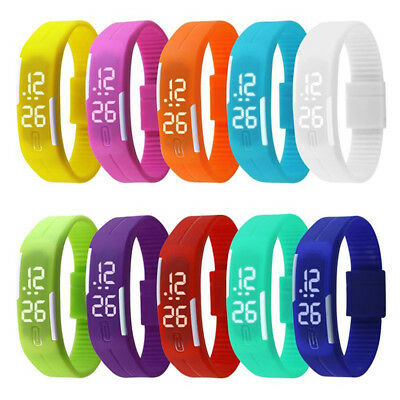 Men Women Fashion Digital LED Bracelet Touch Screen Sports Silicone Wrist Watch
