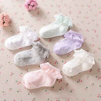 New Baby Lace Sock Girls Tiny Newborn Spanish Knitted Cotton Blend Ankle Socks