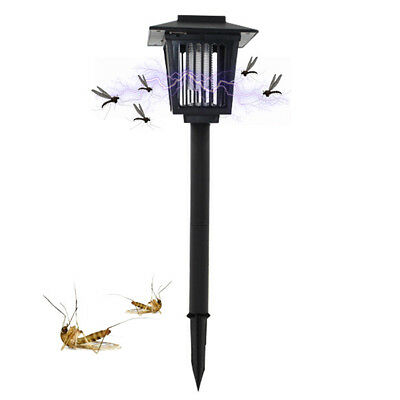 Solar Powered Mosquito Lamp Killer Fly Bug Insect Zapper Killer Trap Lamp Light