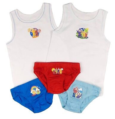 Boys Teletubbies Vests and Pants sets 18-24m 2-3y 3-4y